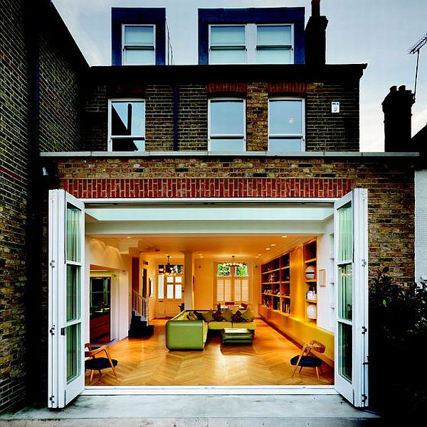 Colorful Chevron House in West London