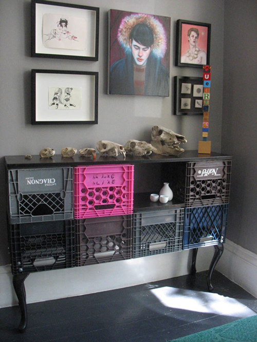 Fantastic 10 Ingenious Ways To Turn Milk Crates Into Furniture WK59