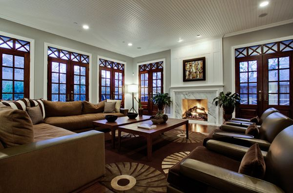 How to arrange furniture in a large living room for Large family room design