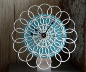 10 DIY Lace Wall Clocks