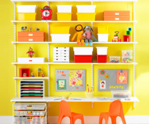 Simple and practical elfa Kid's Workstation