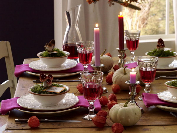 Bright Autumnal Table Settings