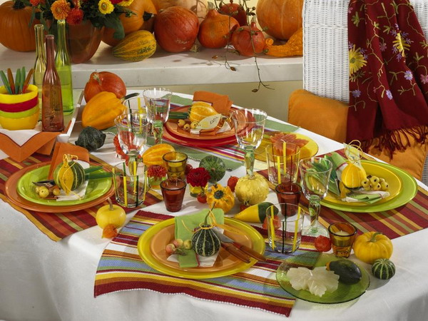 Bright Autumnal Table Settings Images