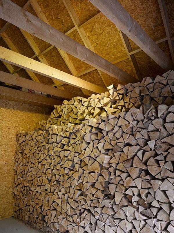 Modern family House wood fire