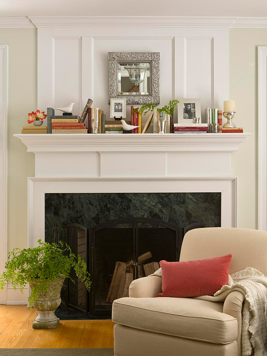 View in gallery Turn the mantel ... & 30 Fireplace Mantel Decoration Ideas