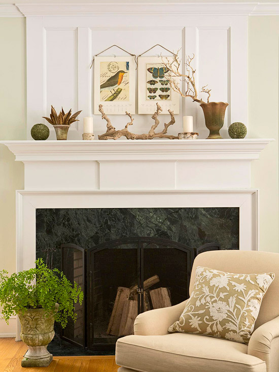 For ex&le color View ... & 30 Fireplace Mantel Decoration Ideas