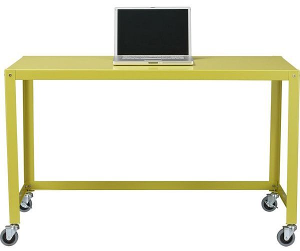 Practical and versatile go-cart chartreuse desk