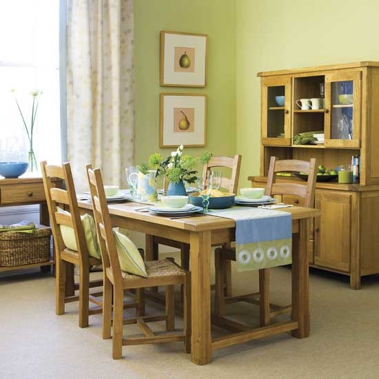 28 green and brown decoration ideas - Pale green dining room ...