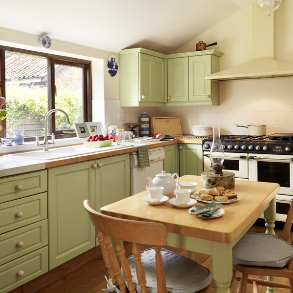 green and brown kitchen ideas