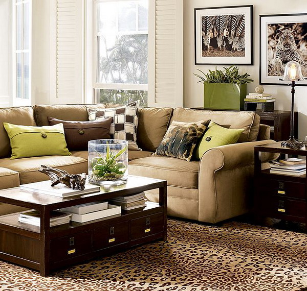 48 Green And Brown Decoration Ideas Unique Brown Living Room