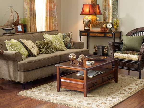Living Room Decor With Brown Furniture 28 green and brown decoration ideas