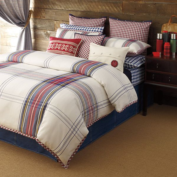 shop tailor block bedding double colour duvet brand amara hilfiger tommy navy cover covers