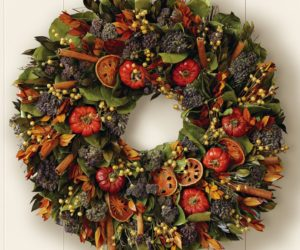 Quince & Cinnamon Stick Wreath for Thanksgiving