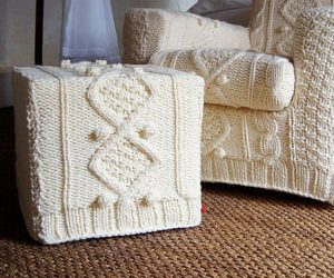 Knitted furniture covers – crazy but fun