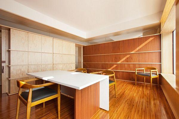 Home Office Light Wood