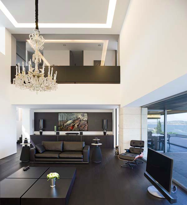 In A Living Room With High Ceilings