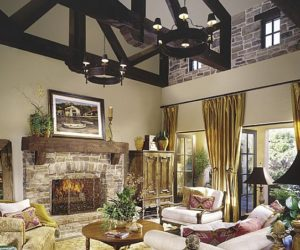 10 rustic living room ideas that use stone