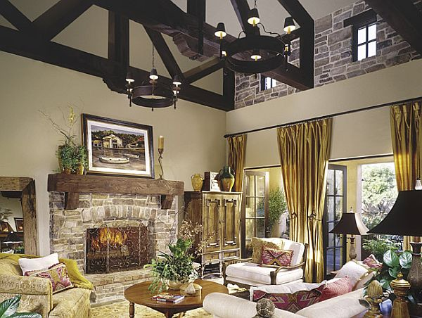 10 Rustic Living Room Ideas That Use Stone Part 58