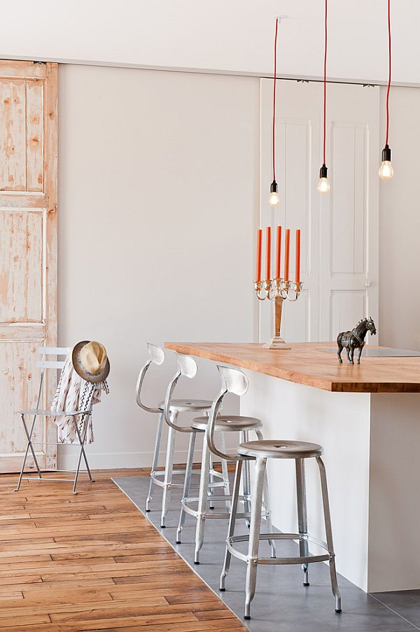 Chic loft in Paris bar stool