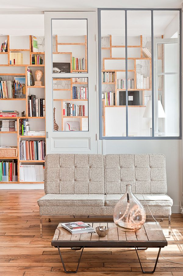 Chic loft in Paris sofa