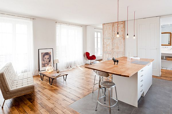 Elegant Chic Loft In Paris Featuring A Industrial Danish Design Pictures