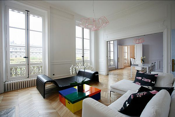 Artistic apartment renovation in paris - Pictures of apartment living rooms ...