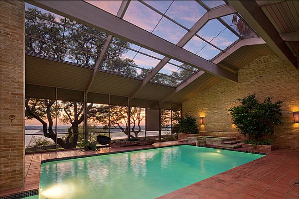 Three beautiful homes with indoor pools for Modern house designs with indoor pool