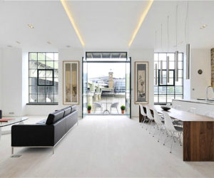 Modern white apartment on the heart of London