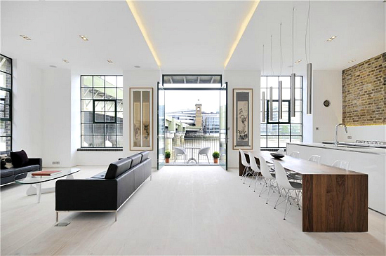 modern white apartment on the heart of london. Black Bedroom Furniture Sets. Home Design Ideas