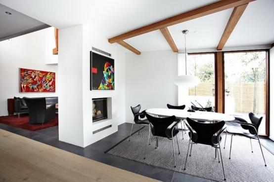 Modern Scandinavian Modern Scandinavian Residence With A Contrasting Interior Décor