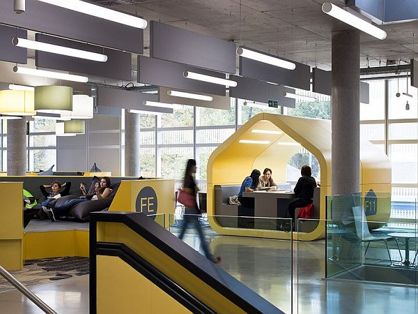 Coventry University\'s bright and modern student center