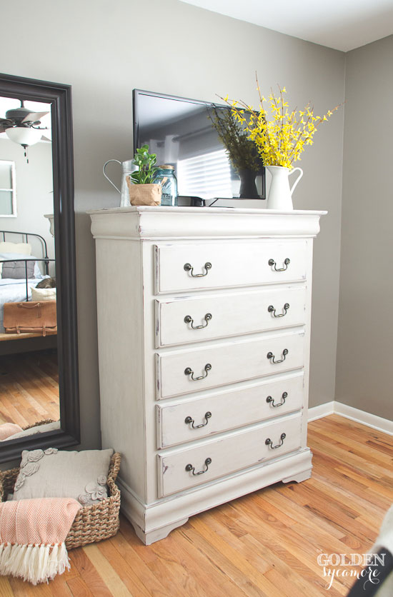 Painted Bedroom Dresser White Washed