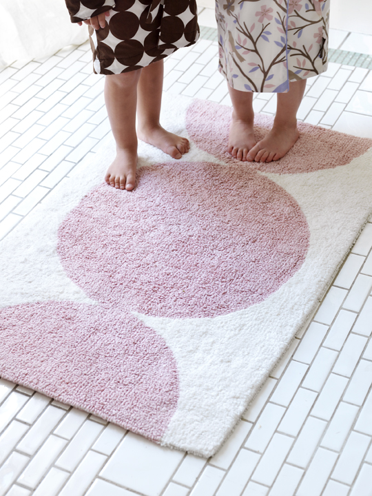 Dots Petal Bath Mat From Dwell Studio