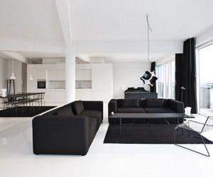 Black and white housing complex by Holgaard Arkitekter