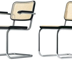 Curved Upholstered Dining Chair · Tubular Steel Chair By Marcel Breuer