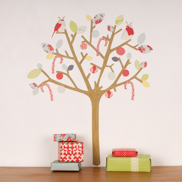 Lovely Christmas Tree Made of Stickers