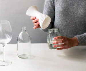 Lovely Lace Vase by Milk Design Limited