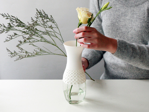 Bouquet Flower Vase By Philippi Design · Lovely Lace Vase