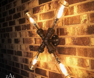Ingenious beer bottle X lamp