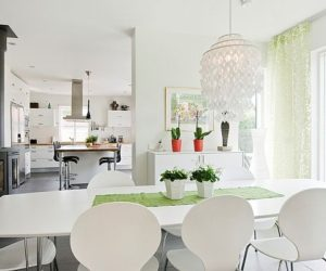 Stylish white interior design design