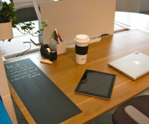 Personalize your work space with a chalkboard