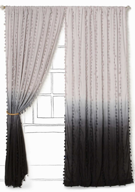 in curtain on summer kirklands blush panel sales hot curtains set gray and shop ombre