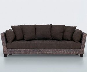 Comfortable 3 Seater Sofa From Natural Fibers By Yves Dever