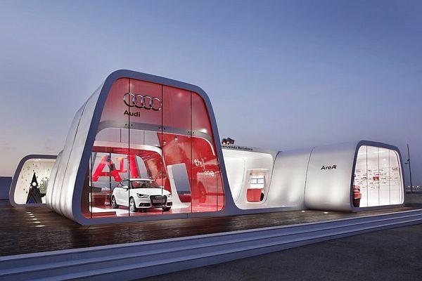 Audi AreA Showroom In Barcelona - Audi car showroom