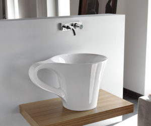Innovative Bathroom Basin Cup by Artceram