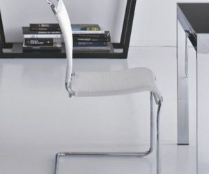 Calligaris Air Cantilever Leather Chair