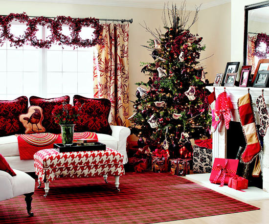 a pink ribbon for the wreath or use some pink christmas balls for some small white feather trees you may get a sweet room as a christmas candy