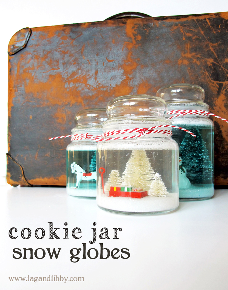 Cookie Jar Snow Globe DIY