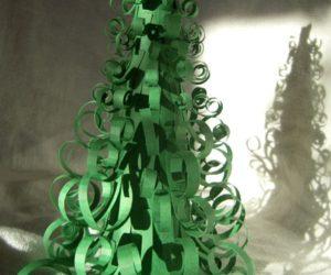 Easy DIY Curly Christmas Tree