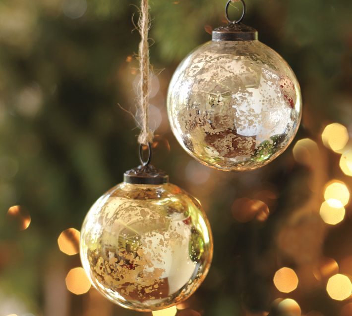 diy mercury glass ornaments - Glass Christmas Decorations